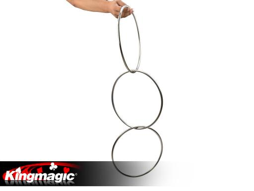 3 Linking Rings (steel pipe) Magnetic Lock 12""