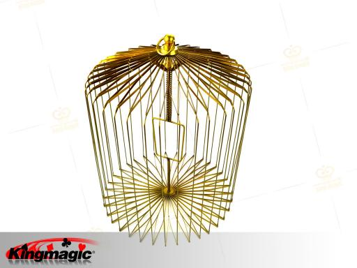 Appearing Bird Cage Medium (Gold)