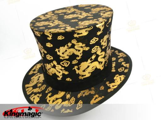 Folding Top Hat - Gold Dragon