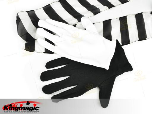 Black And White Gloves To Streamer - Click Image to Close