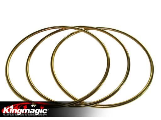 3 Linking Rings Gold (steel pipe)