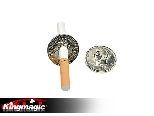 Cigarettes Through Coins (Half Dollar)