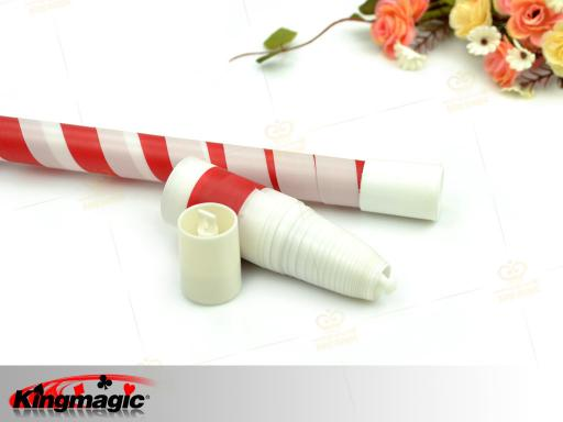 Plastic Vanishing Cane (Red White)