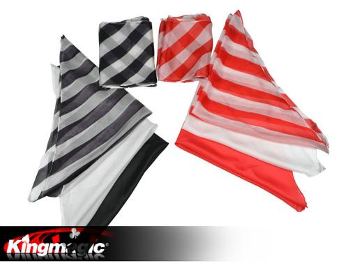 Black White Long Silk (16*500cm)