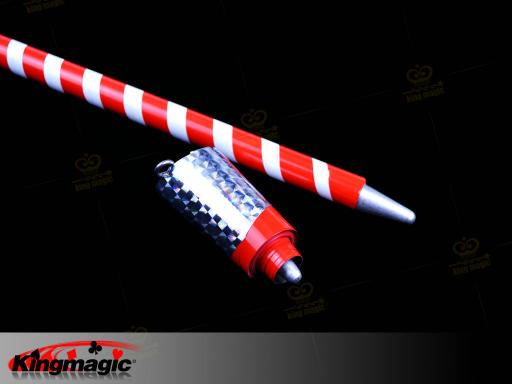 Mahka Appearing Cane (Red White) Metal