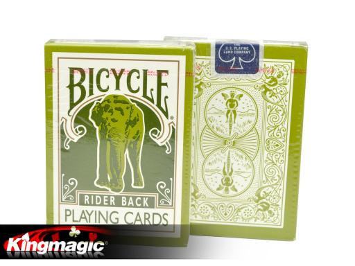 Bicycle Green Elephant Tsunami playing cards