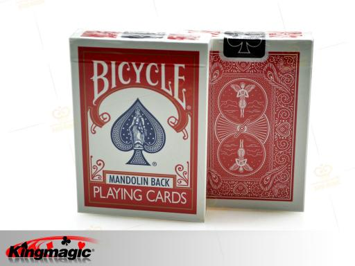 Bicycle 809 Mandolin Back Playing Card (Red) - Click Image to Close