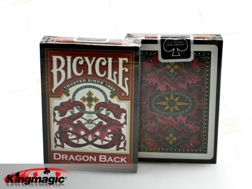 Bicycle Dragon Back Playing Card (Red)