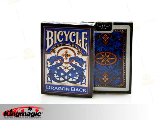Bicycle Dragon Back Playing Card (Blue)