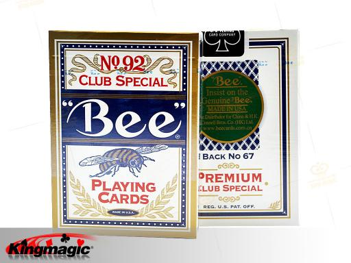Bee marked cards for contact lenses (BLUE)